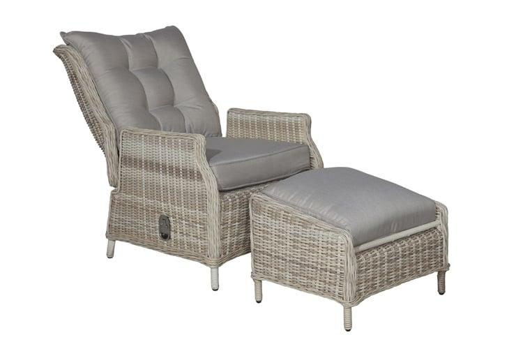 Relax Stoel Buiten : Veracruz relaxstoel met voetenbank passion willow coppens warenhuis