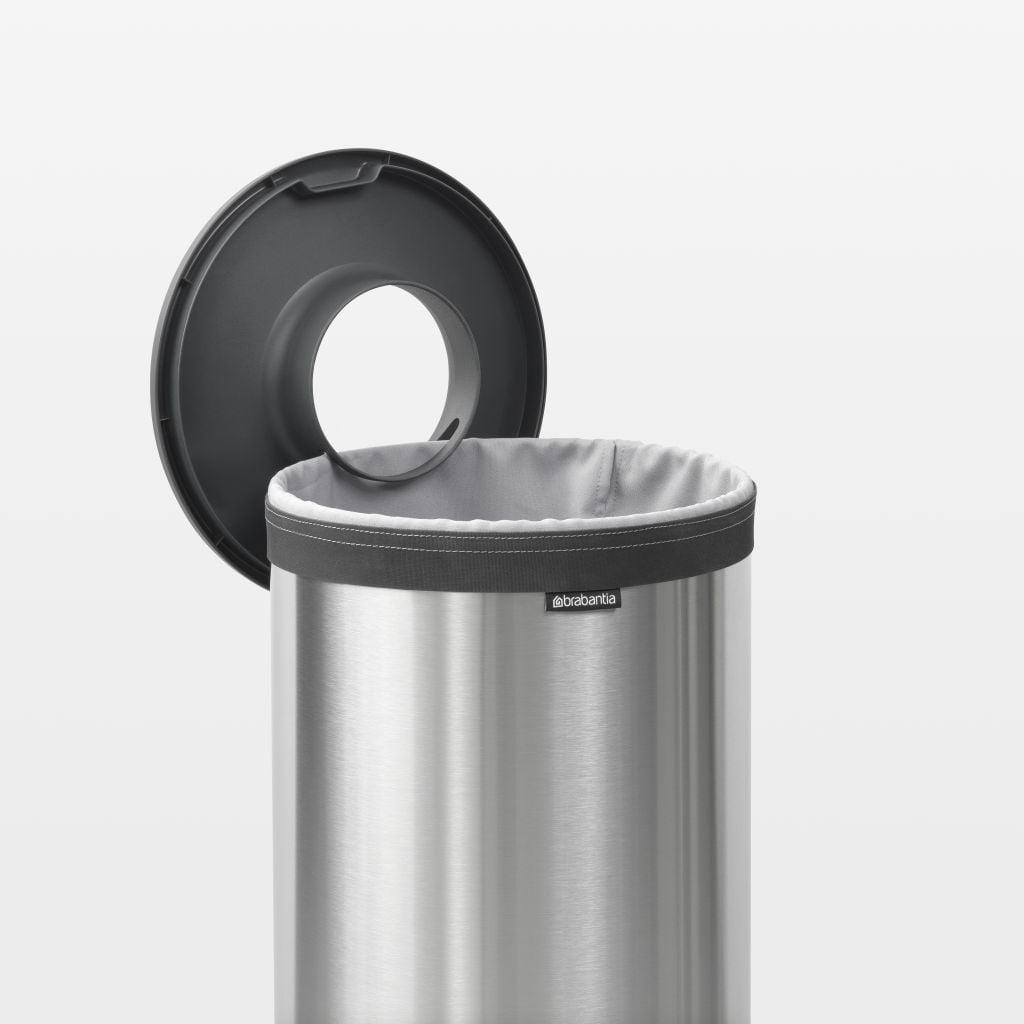 Brabantia Wasbox 50 Liter Matt Steel.Brabantia Wasbox 30 Liter Matt Steel Dark Grey Kunststof Deksel Brabantia Wasbox 30 Liter Matt Steel Dark Grey Kunststof Deksel