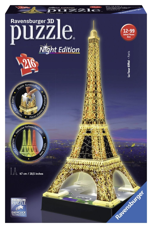 Ravensburger 3D-puzzel Eiffeltoren Nacht