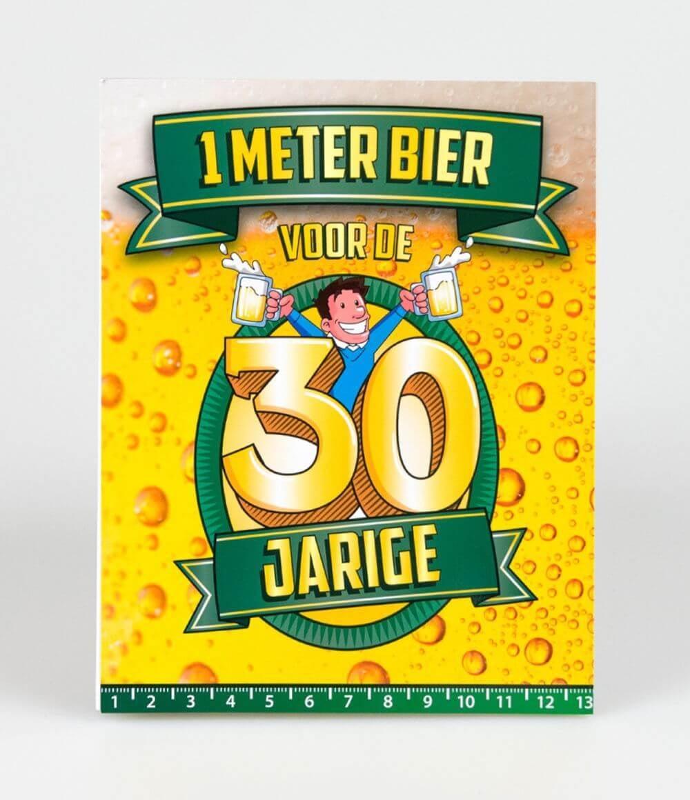 Bier Meter Kaarten 30 jaar