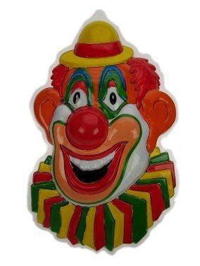 Wanddeco clown met gele hoed