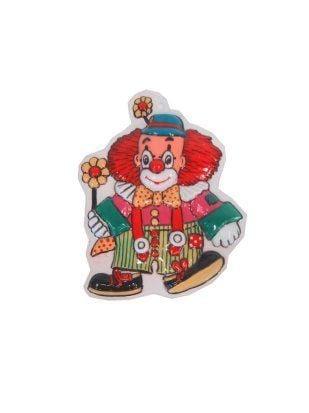 Decoratie clown jongen met bloem