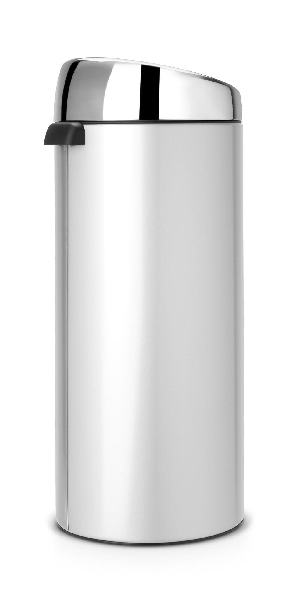 Brabantia Touch Bin 30 Liter.Brabantia Touch Bin 30 Liter Metallic Grey Coppens Warenhuis