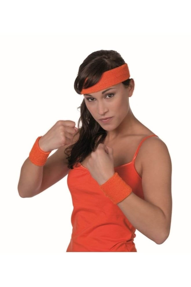 Zweetbandjes oranje