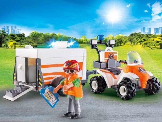 Playmobil® 70053 Eerste hulp quad met trailer