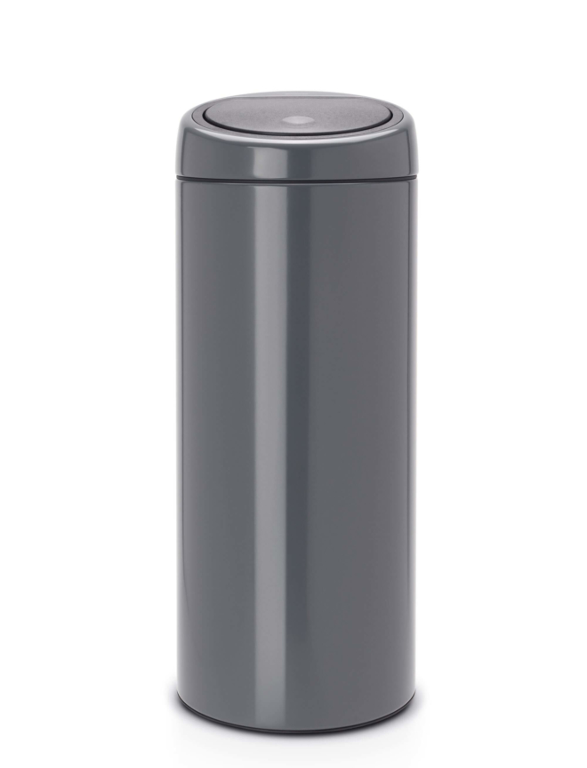 Brabantia touch bin 30 liter iron grey
