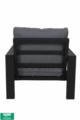 Montana lounge set bank en 2 stoelen royal grey - Product thumbnail