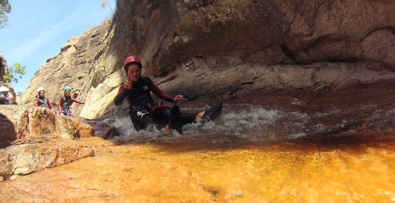 Canyoning Propriano Le Baracci : Ludique et Fun, à partir de 7 ans