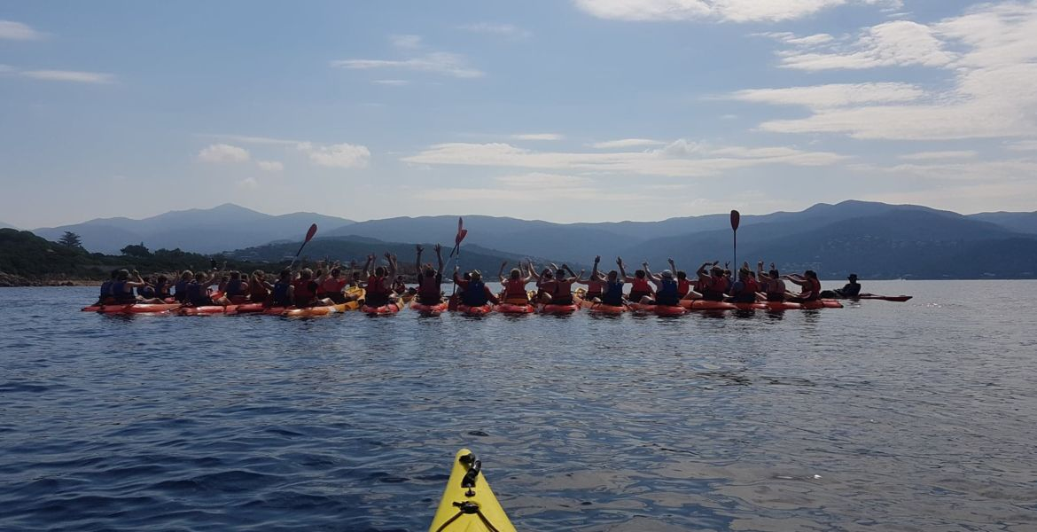 Kayak Corsica excursions for groups