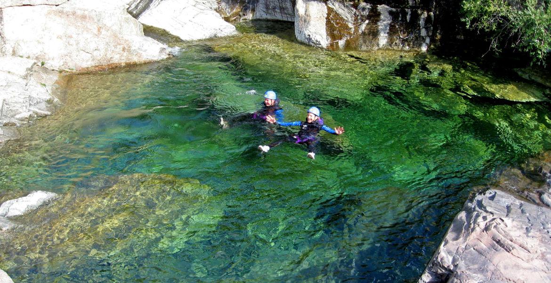 Canyoning Corse Le Zoicu Parcours découverte à partir de 7 ans