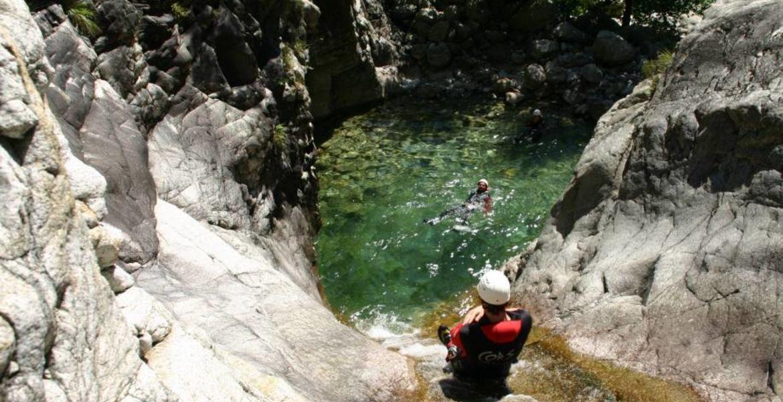 Canyoning Ajaccio La Richiusa : l'incontournable à partir de 9 ans
