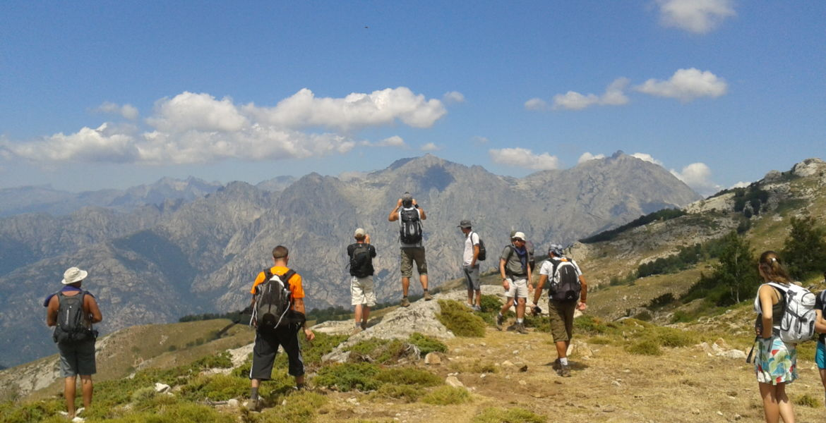 Hiking Corsica guided excursions for groups