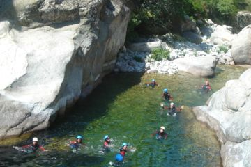 Canyon ajaccio/corte/aleria - vecchio aquatic hiking : wild and wonferdul setting, full-day excursion, from 12 years-old