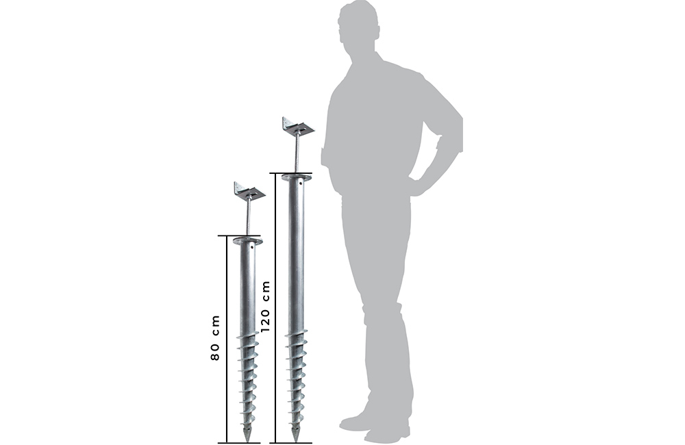 vis de fondation de 80 et 120cm