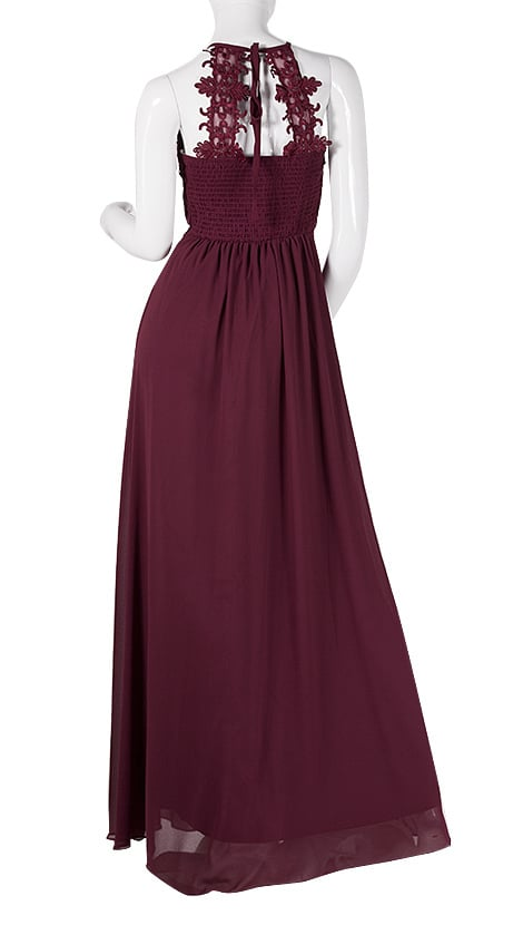 Bordeaux lange jurk
