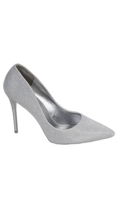 Zilveren glitter Pumps 2718