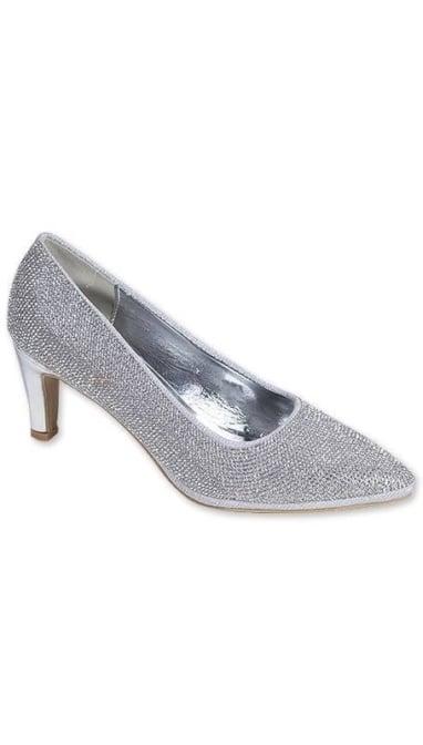 Zilveren glitter Pumps 3448
