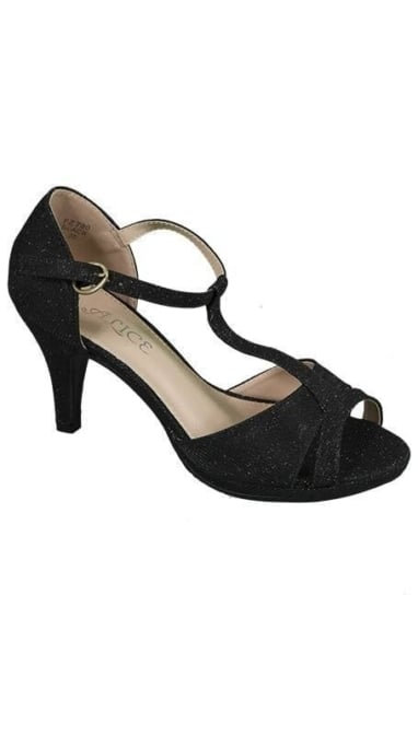 Pumps peep toe zwart 3642
