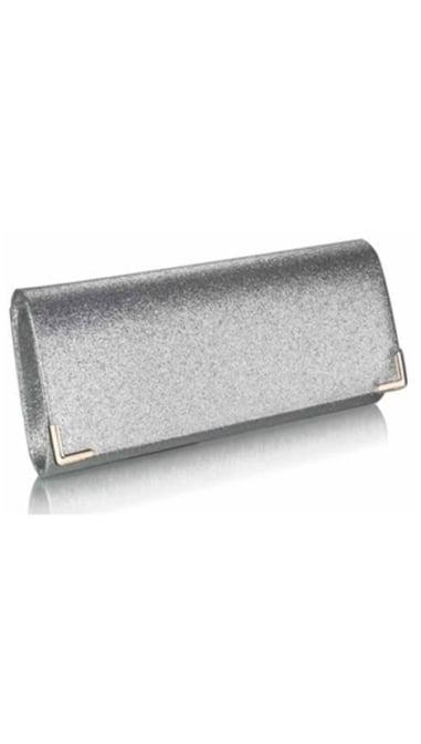 Clutch glitter zilver 3825