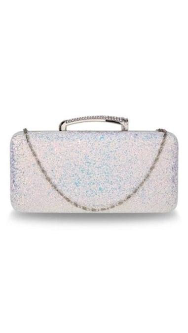 Clutch zilver glitter 3831