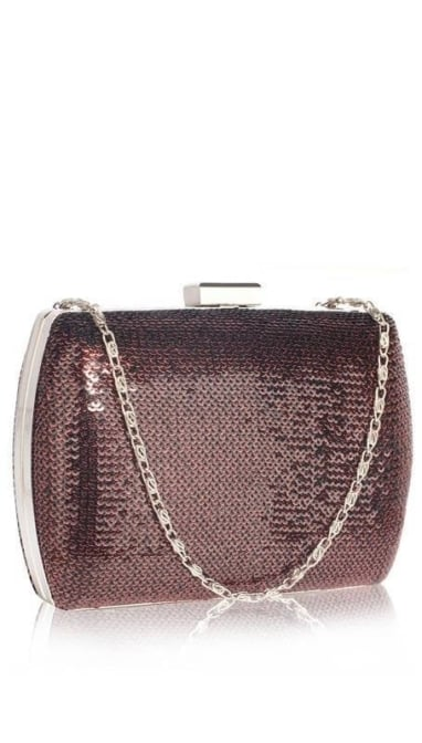 Bordeaux glitter clutch  3605