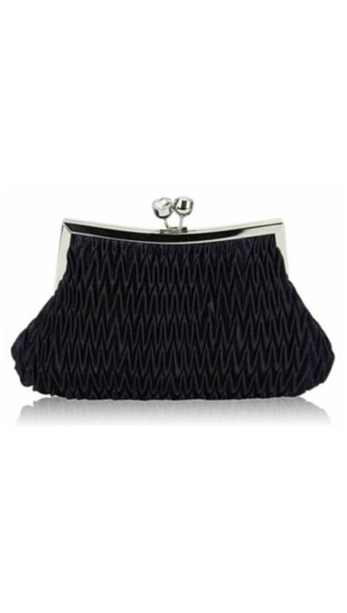 Clutch navy  satijn 3837