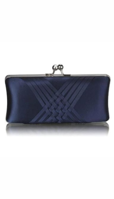 Clutch satijn navy  2946