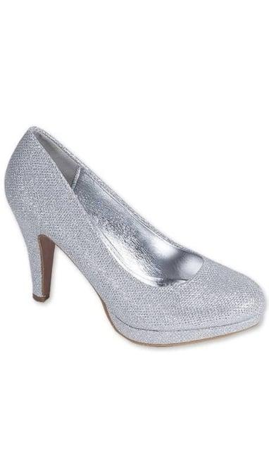 Zilveren glitter Pumps 3452