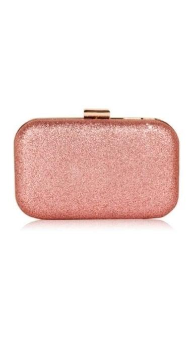 Clutch roze glitter 3838