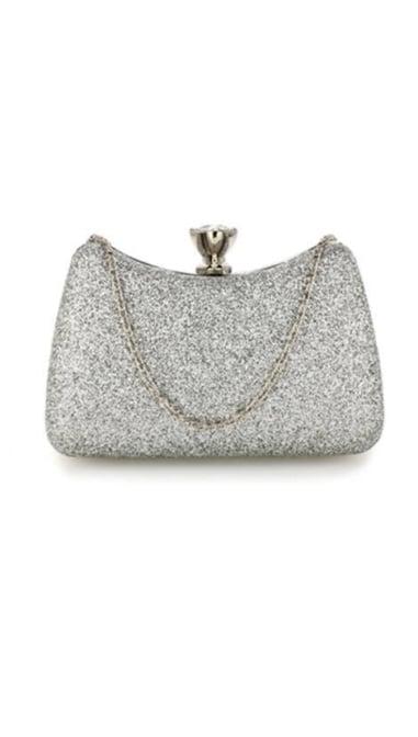 Clutch zilver glitter 3830
