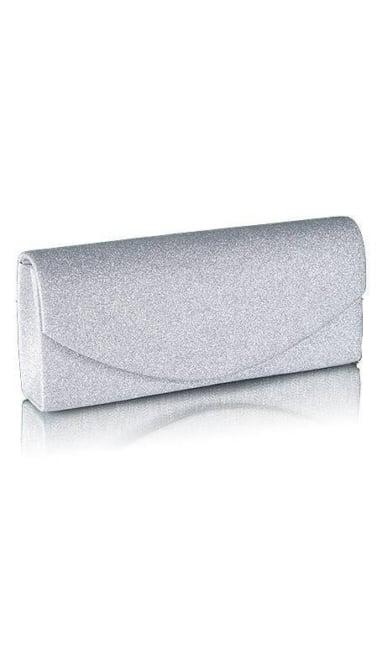 Zilveren glitter clutch  2523