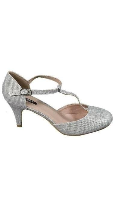 Zilveren tango pumps 3720