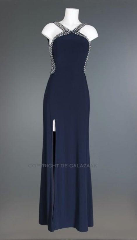 Avondjurk in navy blauw 2473 - Mascara galajurken