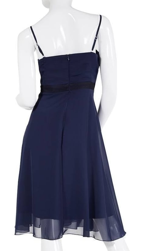 Cocktailjurk in navy  - Lasense