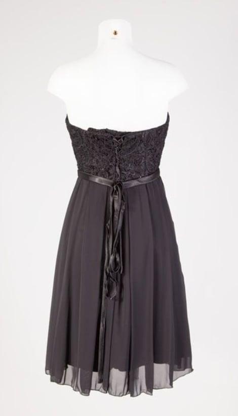Zwart kort jurkje 2512 - Juju & Christine galajurken en cocktailjurken