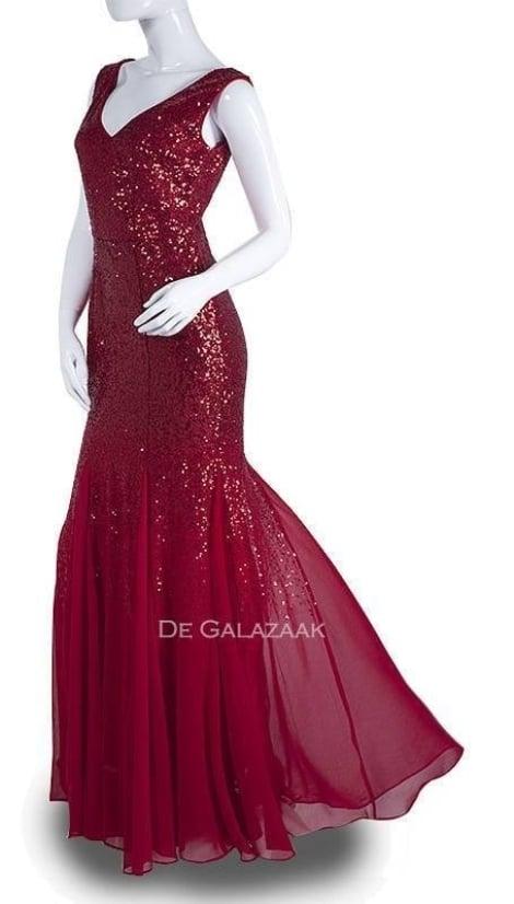 Galajurk rood glitter  2782 - City Goddess galajurken en cocktailjurken
