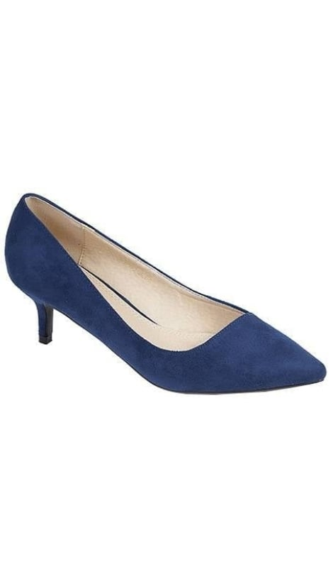 Pumps blauw suède - GLZK-schoenen