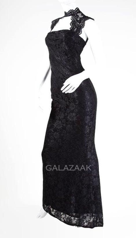 Galajurk zwart van  kant - City Goddess