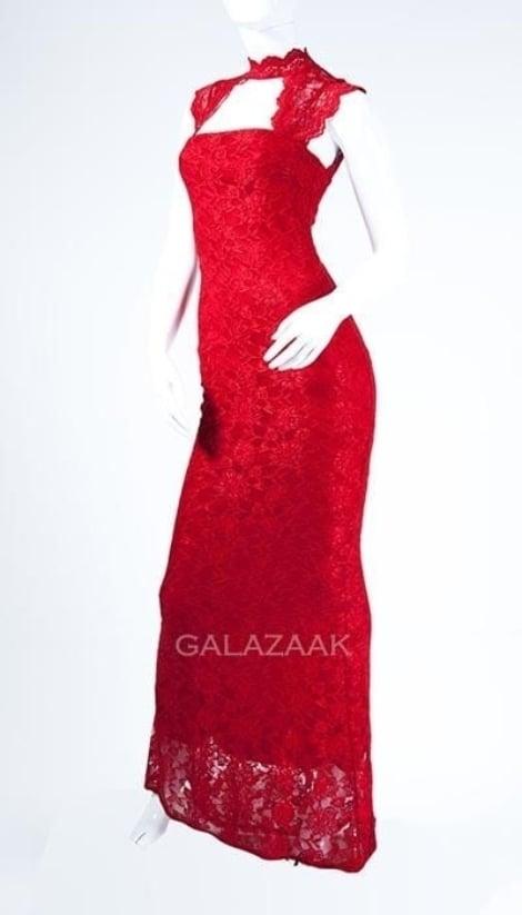 Galajurk rood van kant 3024 - City Goddess galajurken en cocktailjurken