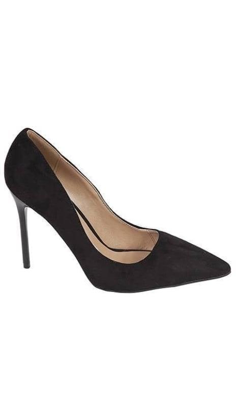 Pumps zwart suède 3208 - GLZK-schoenen