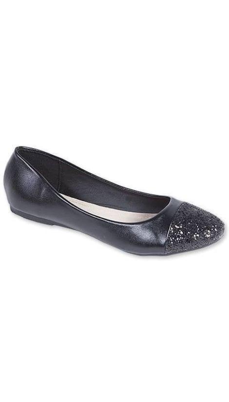 Ballerina's metallic zwart 3210 - GLZK-schoenen