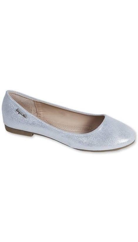 Ballerina's metallic zilver 3216 - GLZK-schoenen