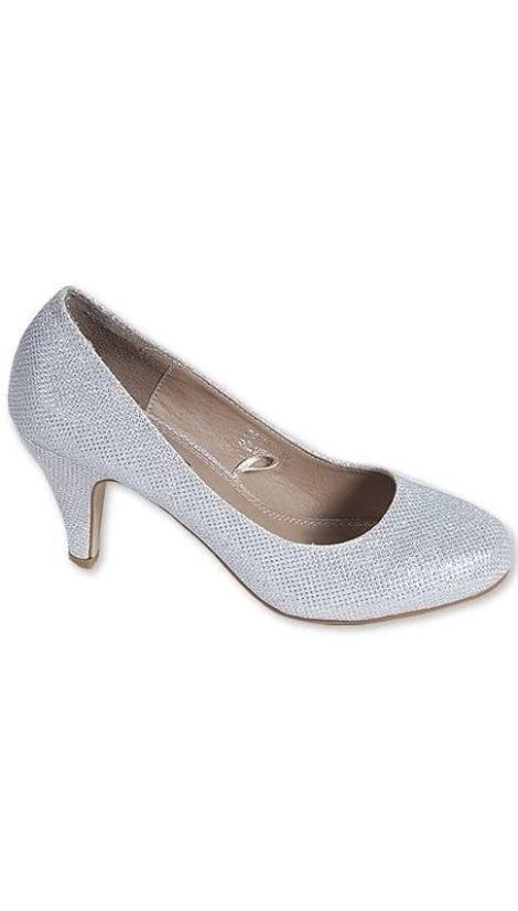 Pumps zilver met glitters 3222 - GLZK-schoenen