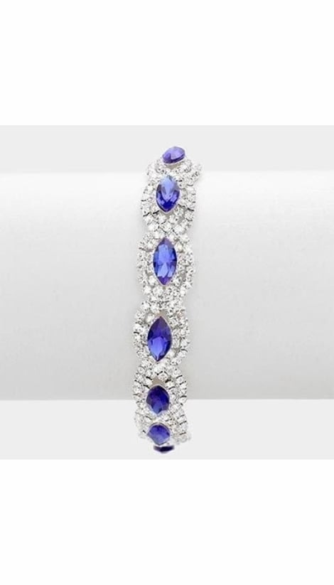 Armband blauw  3064 - GLZK sieraden
