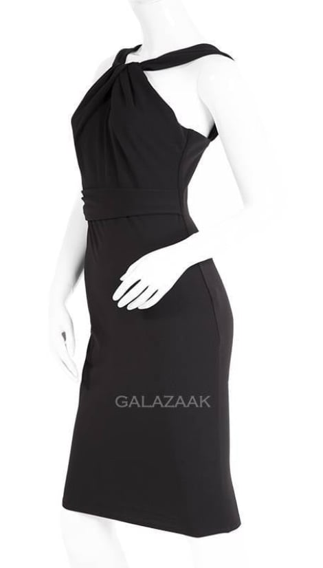Cocktailjurk halter  zwart  3343 - City Goddess