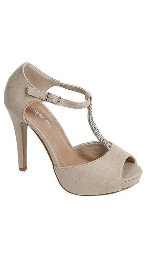 Beige pump met plateauzool 3348 - GLZK-schoenen