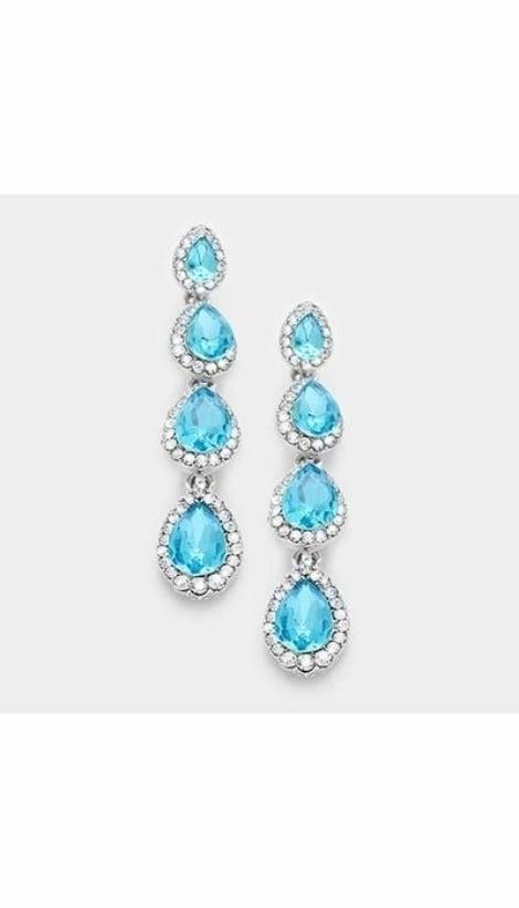 Oorbellen lichtblauw  3050 - GLZK sieraden
