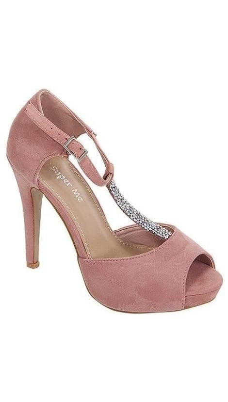 Pumps roze met plateau 3350 - GLZK-schoenen