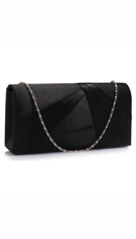 Clutch zwart satijn 3359 - GLZK tasjes en clutches
