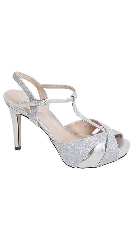 Zilveren gala sandaaltje  3392 - GLZK-schoenen